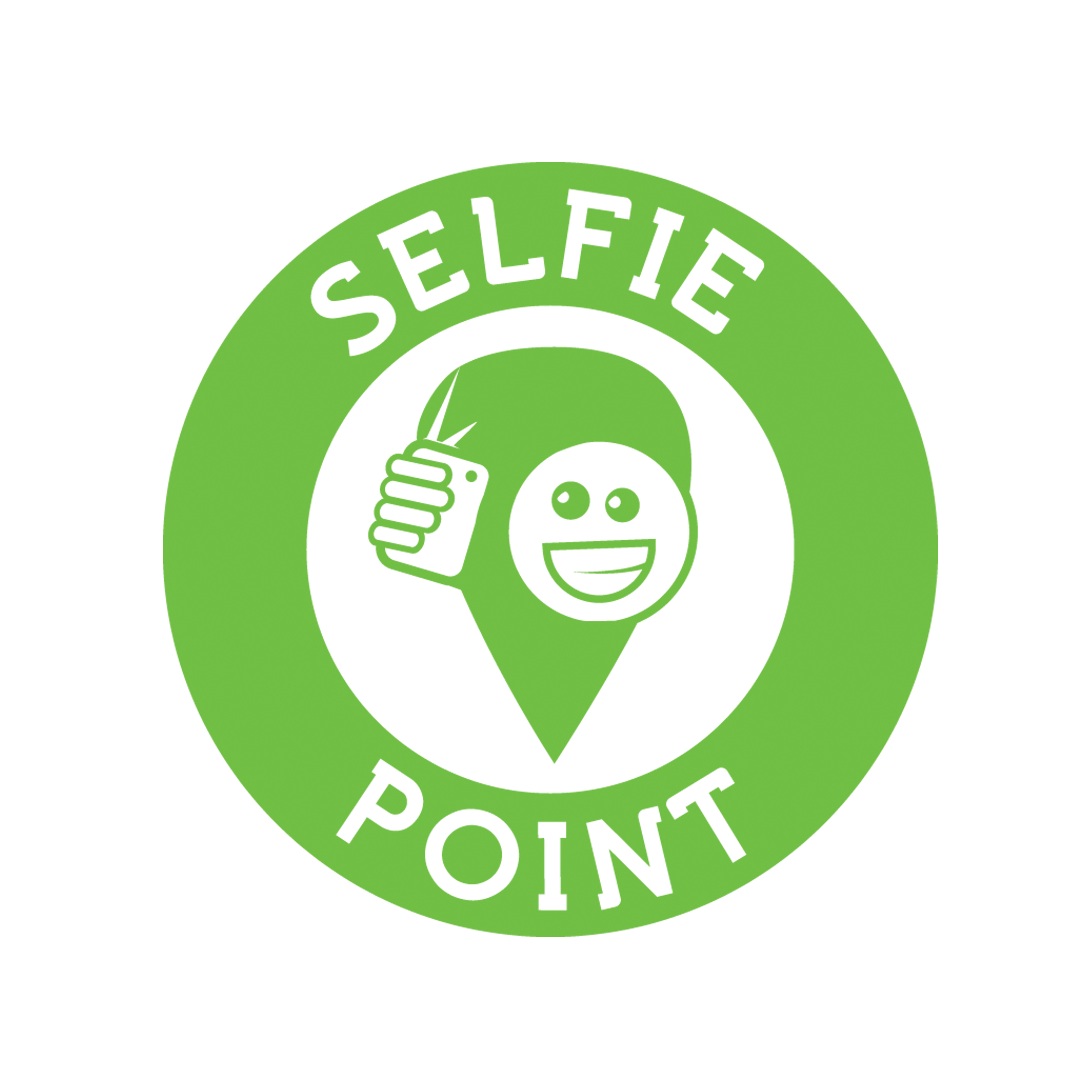 Selfie Point - Logo grün